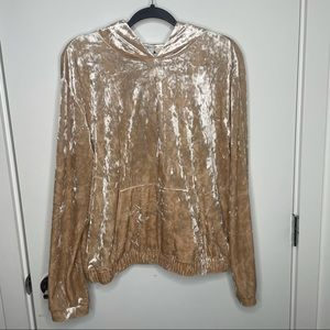 GUESS gold crushed Velvet hoodie